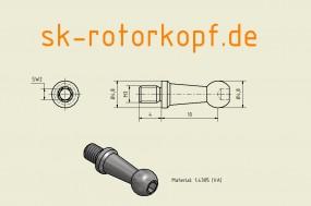 Edelstahl Kugelkopf T2