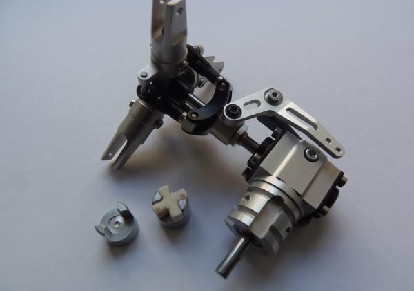 3Blatt Alu Scale Heckrotor - Getriebe für Starrantrieb