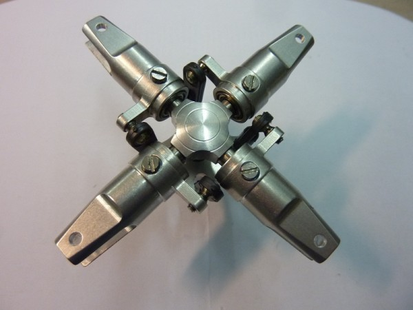4- Blatt Heckrotor / 5 mm Alu Natur