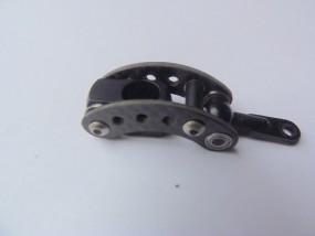 Alu Mitnehmer CFK / Schwarz 10 mm