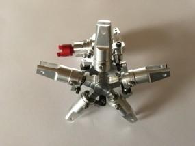 5Blatt Alu Scale Heckrotor - Getriebe für Starrantrieb